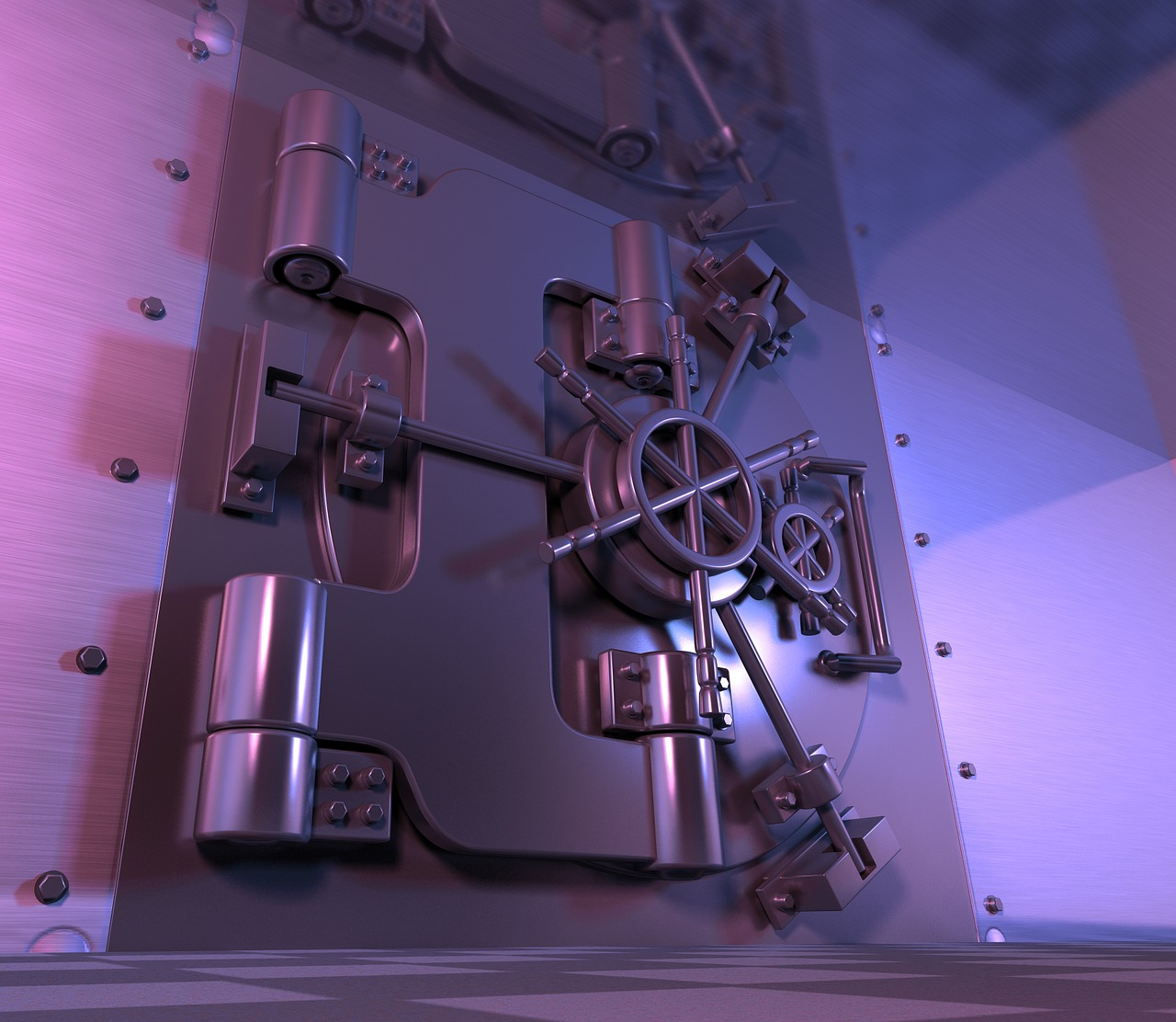 You might not be able to afford a bank vault this secure, but there are many Ways to Keep your Valuables Safe